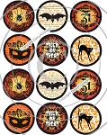 Bottle Cap Images -Vintage Halloween 2