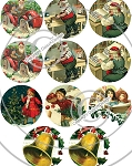 Bottle Cap Images - Vintage Christmas 1