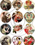 Bottle Cap Images -Vintage Valentines Day