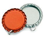 Orange Bottle Cap Pendants - Flattened