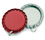 Red Bottle Cap Pendants - Flattened