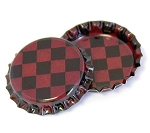 Two Sided Antique Red Checkers Bottle Caps Standard