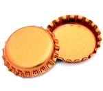 Two Sided Metallic Orange Bottle Caps Standard