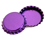 Two Sided Metallic Purple Bottle Caps Standard