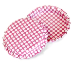 Two Sided Hot Pink - White Polka Dots Bottle Caps Standard