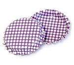 Two Sided Bright Purple - White Polka Dots Bottle Caps Standard