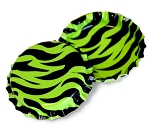 Two Sided Lime Green Zebra Bottle Caps Standard
