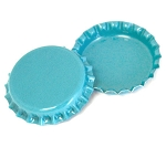Two Sided Aqua Blue Bottle Caps Standard