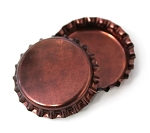 Two Sided Red Copper Patina Bottle Caps Standard