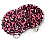 Two Sided Hot Pink Cheetah Bottle Cap Pendants - Standard