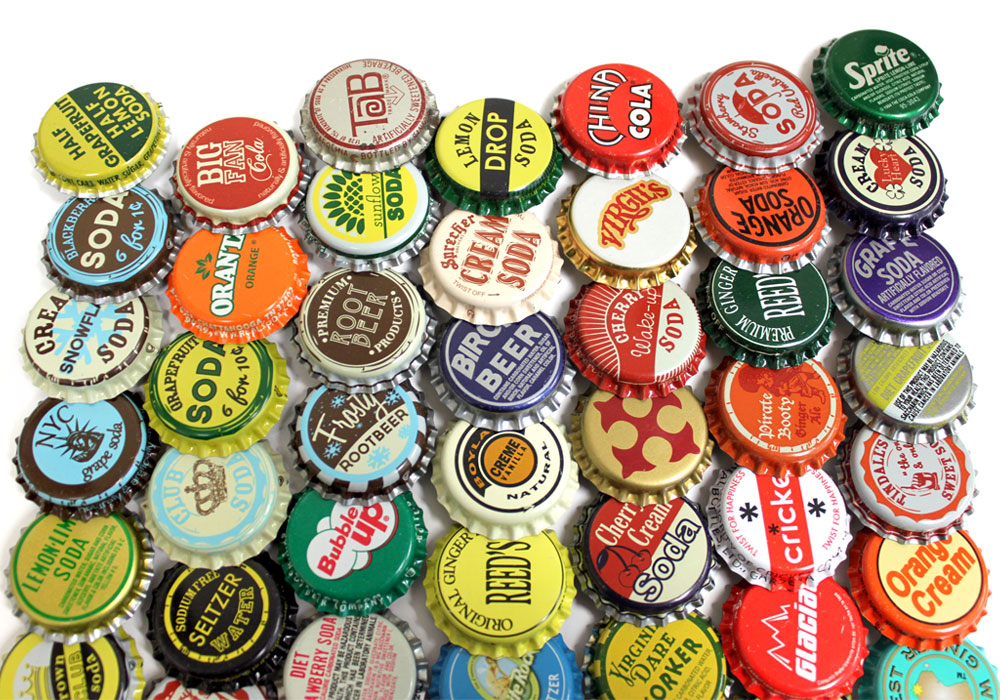 random vintage bottle caps at bottle cap co
