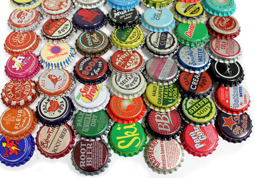 Random vintage bottle caps at bottle cap co for Pictures of bottle caps