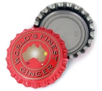 Vintage Bottle Caps, World's Finest Ginger - Red