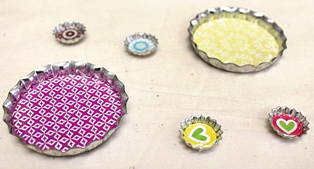 how to make magnets bottle caps