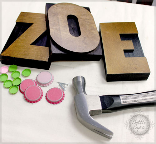 letter press block home decor diy - Letter Decor