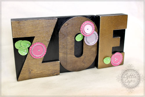 letter press name decor - Letter Decor