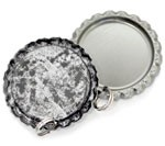 Antique Silver Bottle Cap Pendants - Flattened