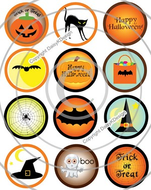 Bottle Cap Images - Halloween