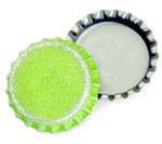 Distressed Lime Green Bottle Caps Standard