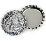 Antique Silver Bottle Caps Standard