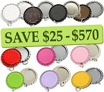 10 Color Bottle Cap Combo Pack Flattened Pendants