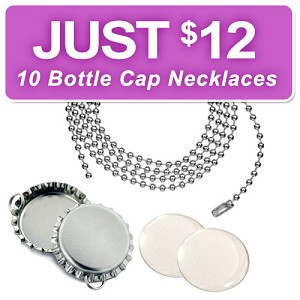 10 Bottle Cap Necklace Discount Kit