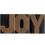 JOY, Large Letter Press Blocks