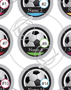 Soccer Team-1 Inch Editable Bottle Cap Images