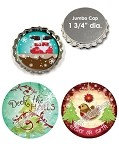 Bottle Cap Images - Jumbo Santa Baby 2