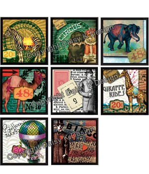 Alphabet Tile Images -Circus Act