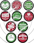 Bottle Cap Images -Bright Christmas