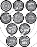 Bottle Cap Images -Chalk Art Christmas Sayings