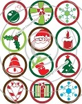 Bottle Cap Images - Christmas 1