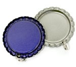 Blue Bottle Cap Pendants - Flattened