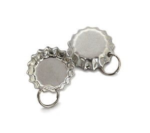 Mini Chrome Bottle Cap Pendants