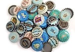 Vintage & Vintage Inspired Bottle Caps -Blue Brown Mix