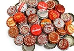 Vintage & Vintage Inspired Bottle Caps -Red Orange Mix