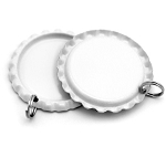 Two Sided White Bottle Cap Pendants -Flattened