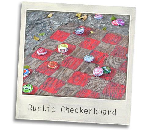 bottle cap checkerboard