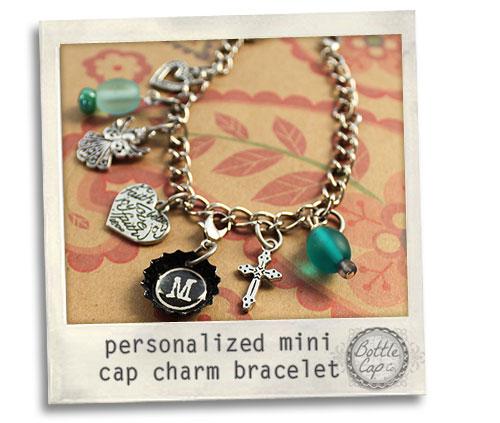 mini cap charm bracelet