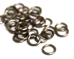 8mm Jump Rings -Antique Copper