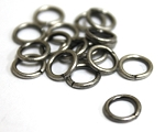 8mm Jump Rings -Antique Silver