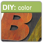Add distressed color to your letter press blocks.