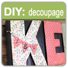 Decoupage beautiful papers to your letter press blocks
