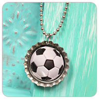 DIY Bottle Cap Necklace Tutorial