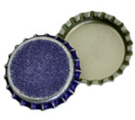 Distressed Blue Bottle Caps Standard