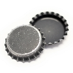 Distressed Black Bottle Caps -Two Sided Standard