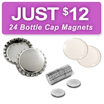 24 Bottle Cap Magnet Discount Kit