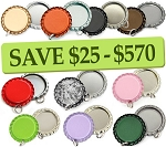 10 Color Bottle Cap Combo Pack Flattened Pendants- RANDOM