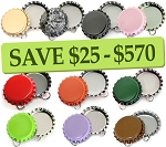 10 Color Bottle Cap Combo Pack Pendants- RANDOM